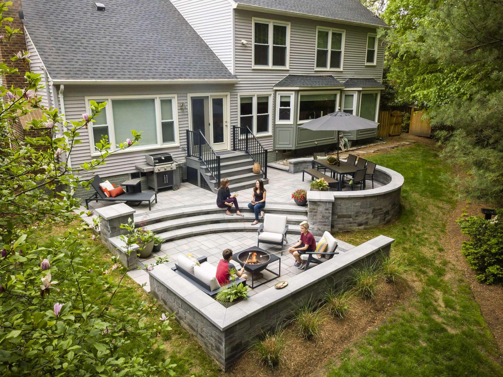 Backyard paver patio