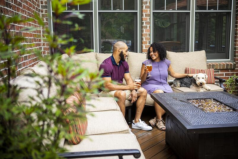 family on patio with pest control services