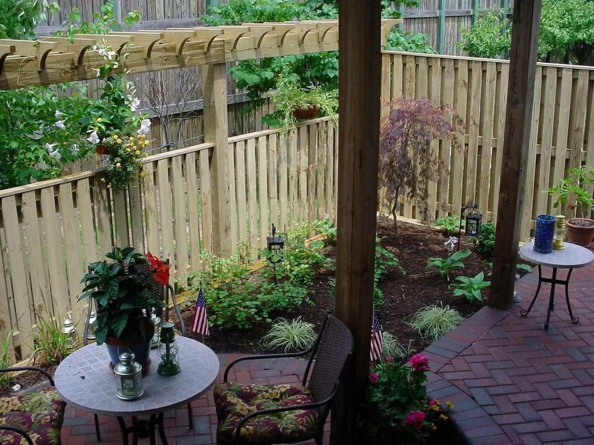 backyard patio privacy fence