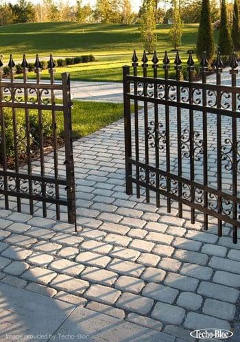 permeable paver walkway - techo bloc