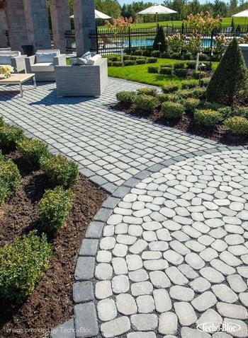 permeable paver patio- techo bloc