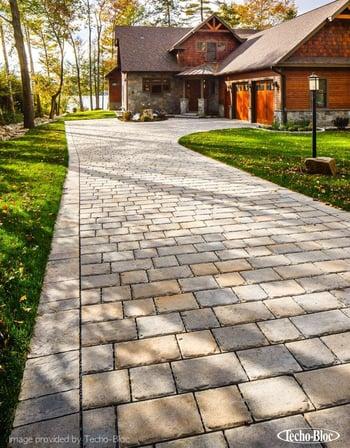 permeable paver driveway - techo bloc