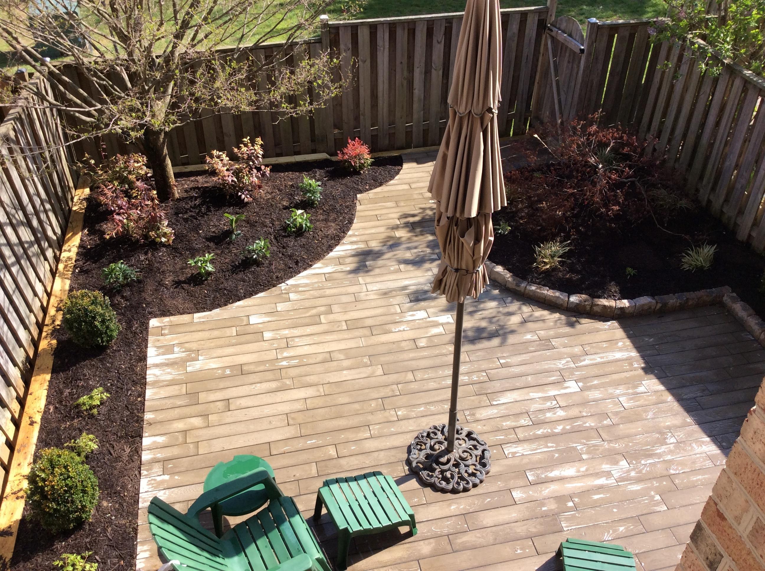 Paver to look like hardwood patio