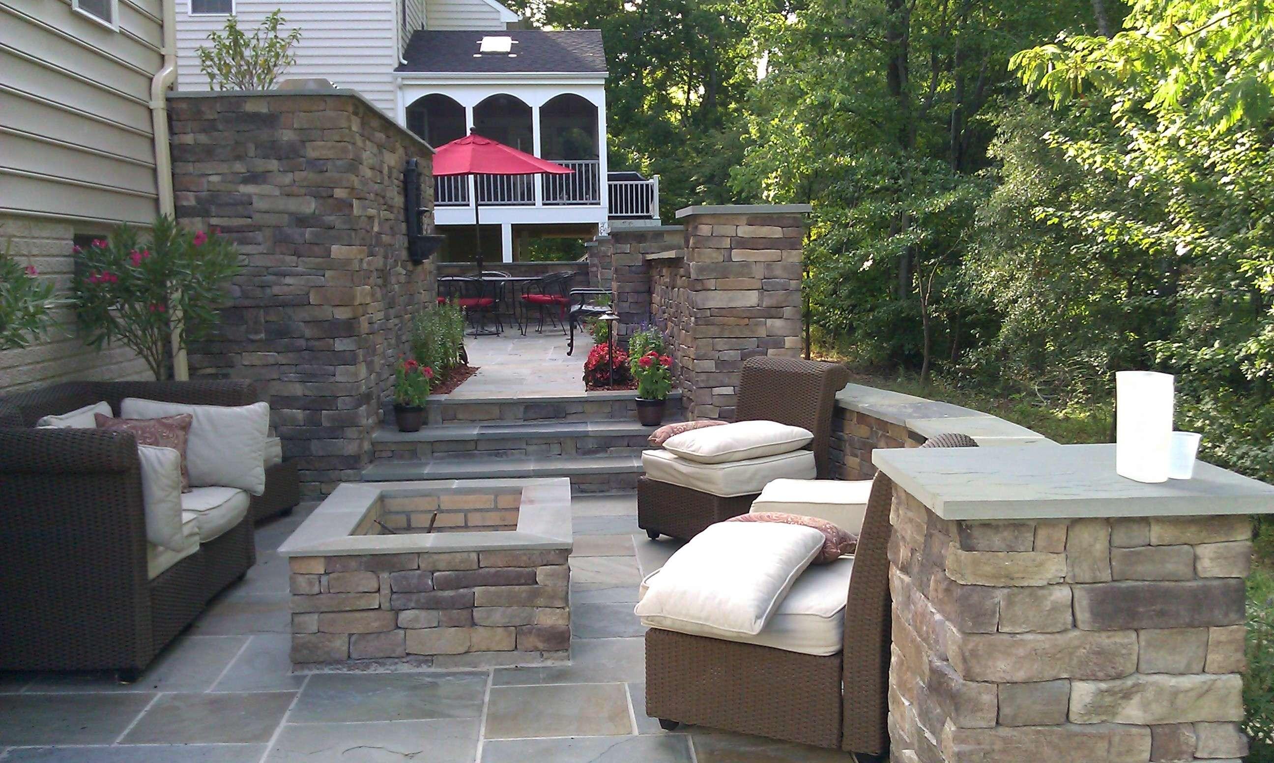 Unique patio design