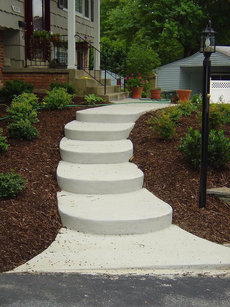 concrete walkway at home in Arlington, VA