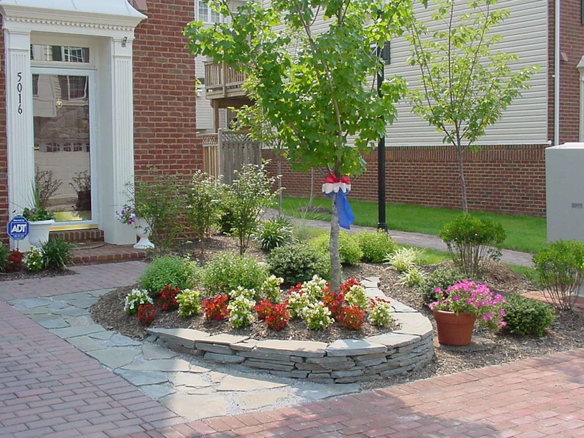 dry-stacked-wall-brick-walkway-planting