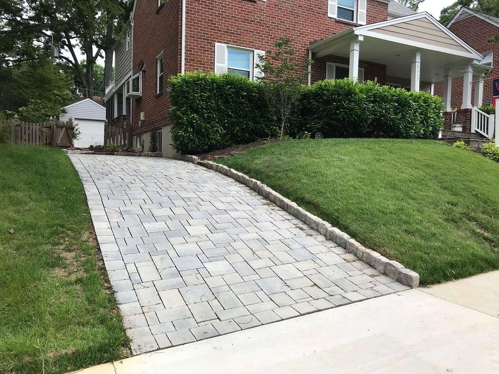Eco-friendly permeable paver driveway