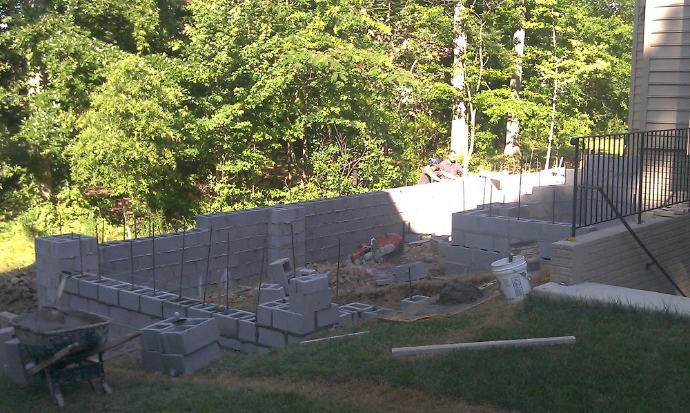 landscape project in progress in Alexandria, VA