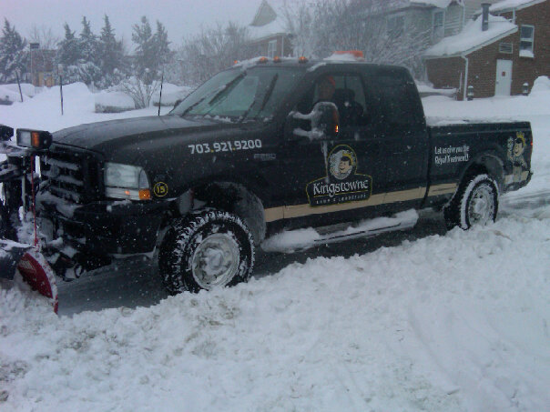 Kingstowne snow removal truck