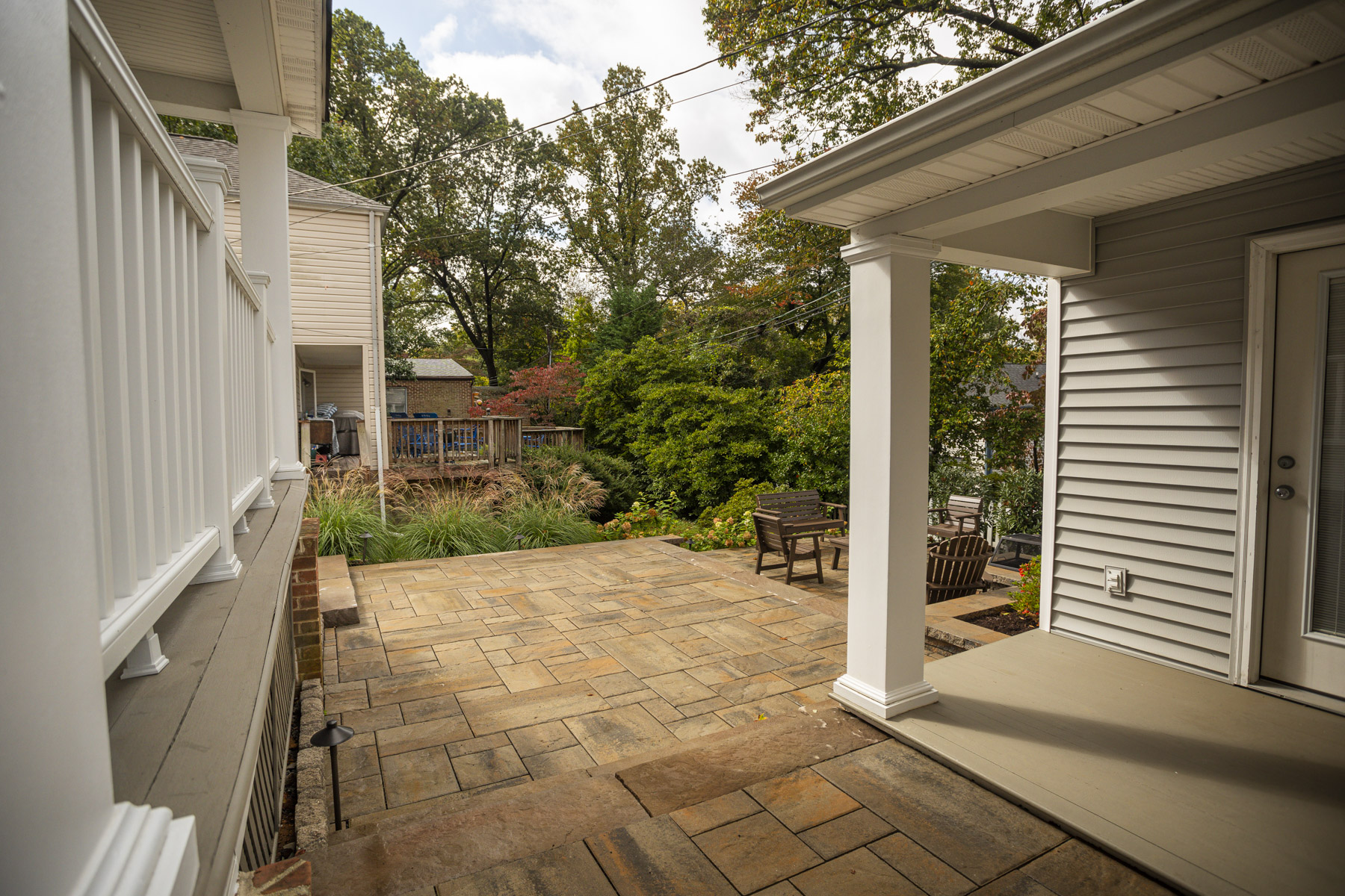 Paver patio and landscape transformation