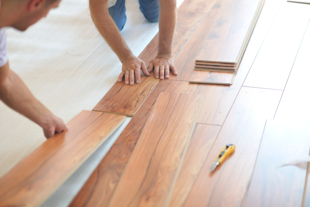 Kingstowne Home Services installing flooring