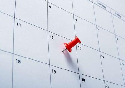 Calendar with reminder