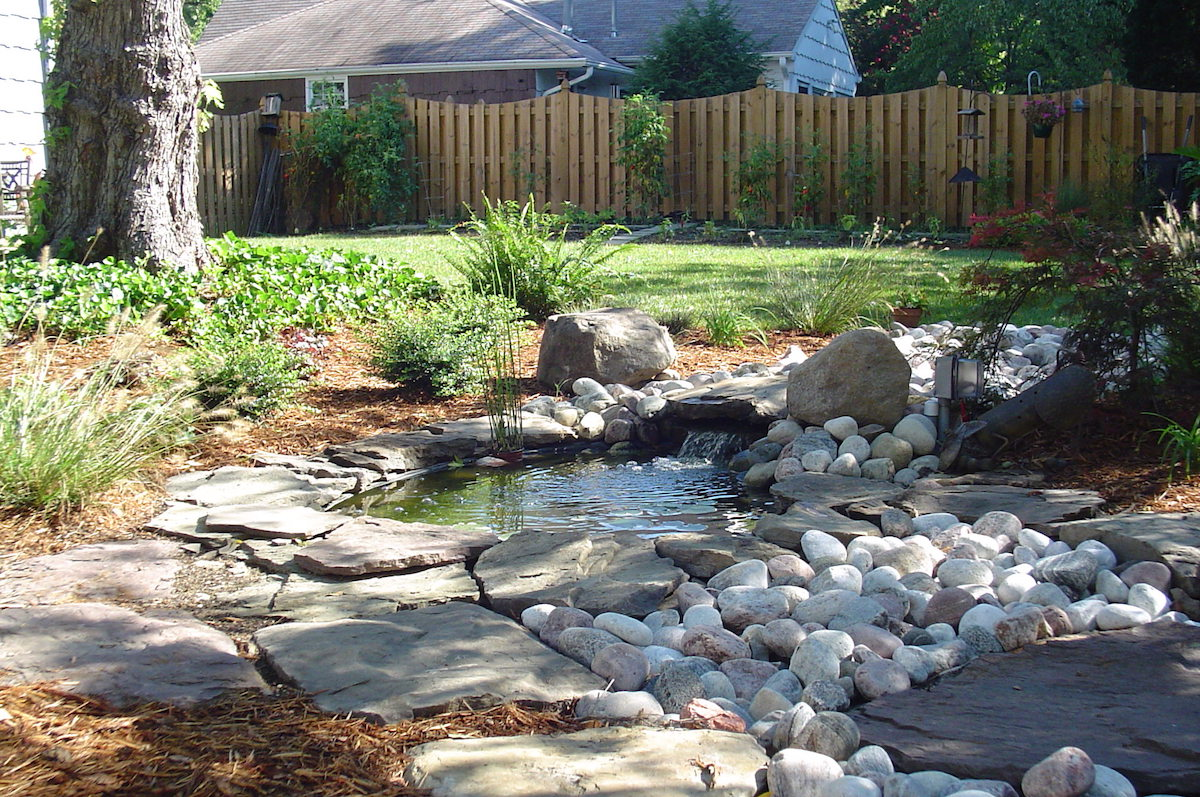 pondless waterfall landscape design water feature