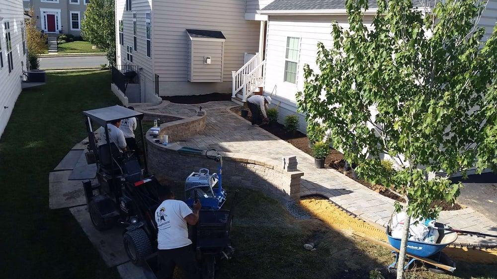 landscape installation crew members Alexandria, VA