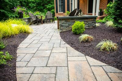 walkway and plants designed by walkway company in Virginia