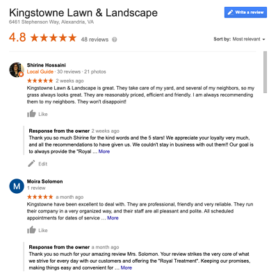 kingstowne reviews