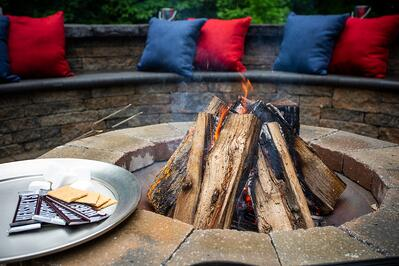 Residential fire pit in Alexandria, VA