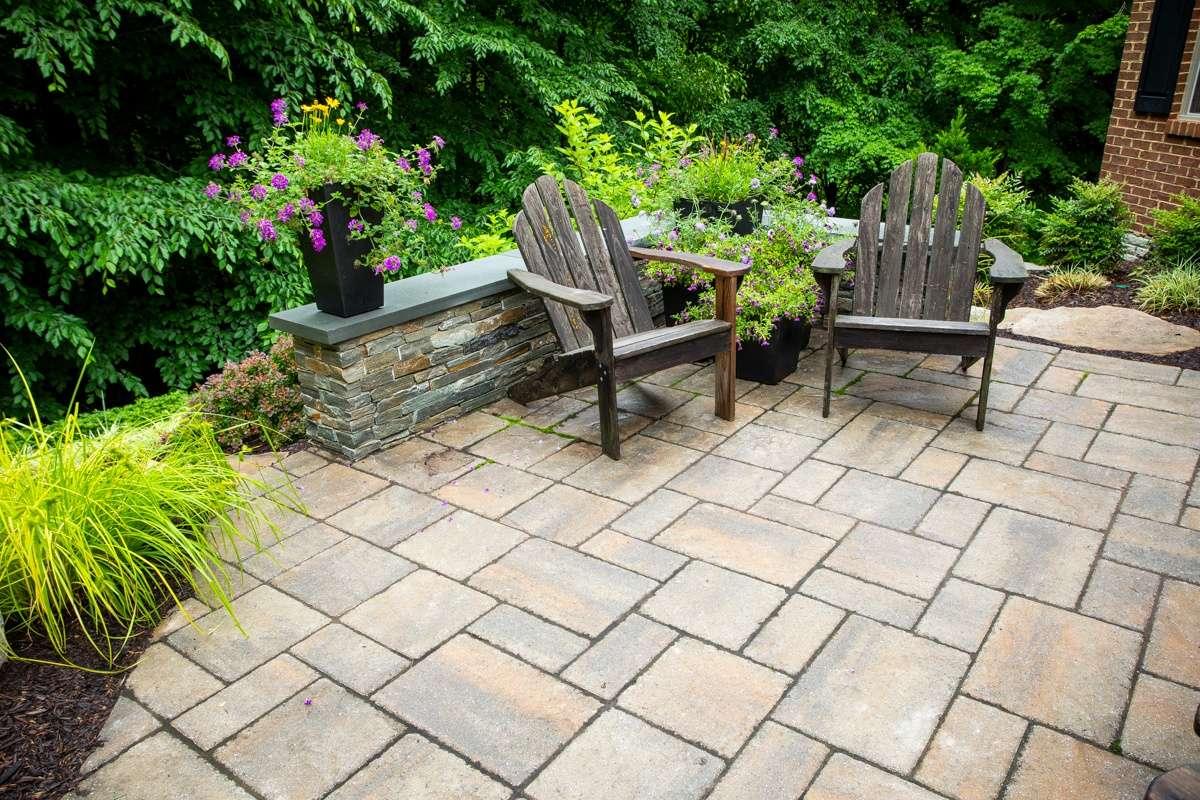 patio made with pavers