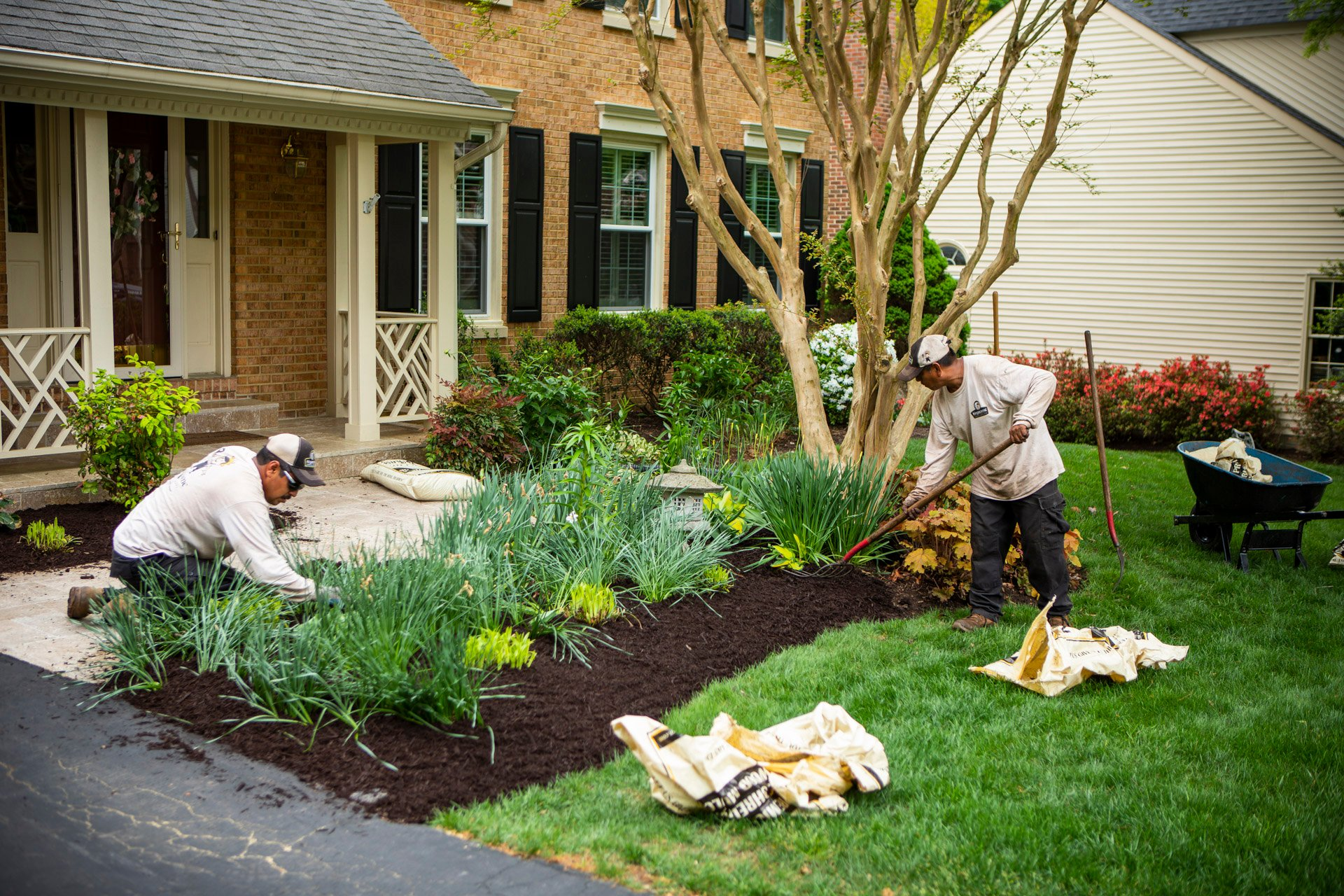 maintenance-mulch-bag-plantings-house-tree
