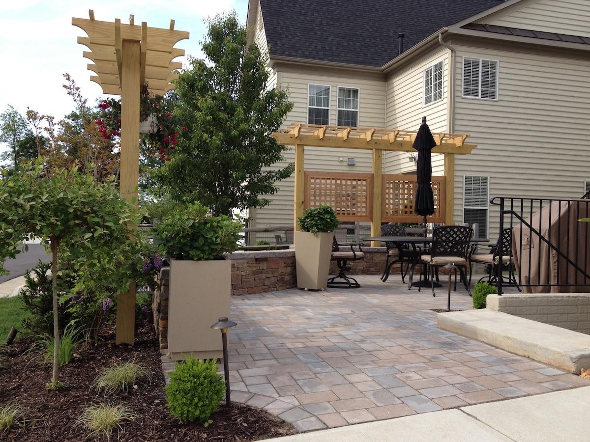 paver patio privacy screen