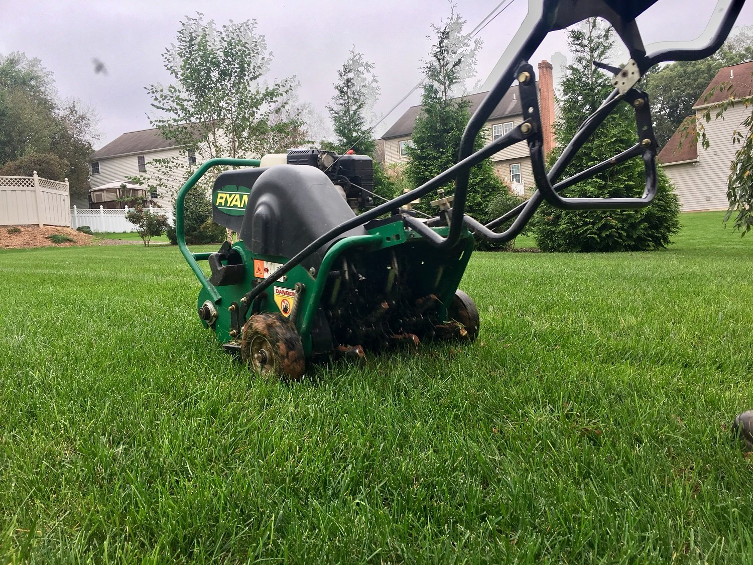 Lawn aeration in Virginia