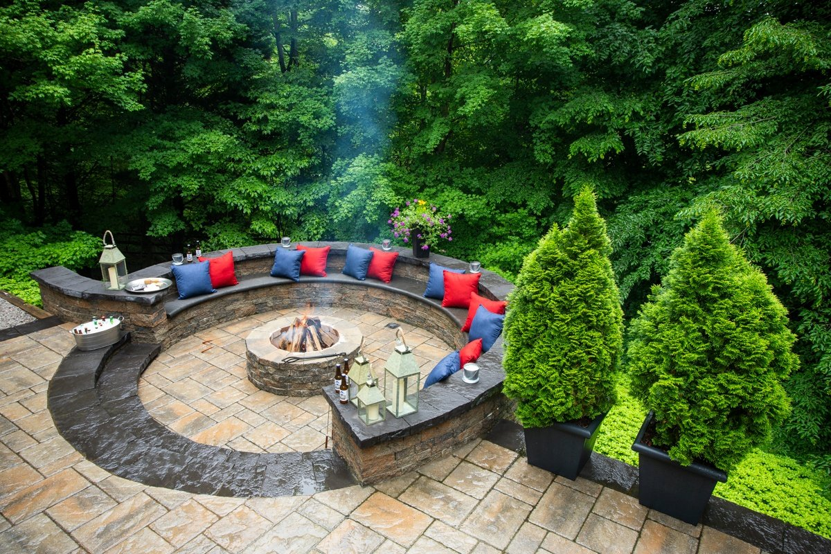Alexandria, VA Landscape Design Case Study: A Cozy, Private Backyard Paver Patio, Fire Pit, and More